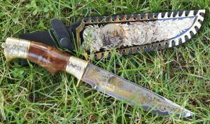 ЗОК Нож большой (кап. зол. колп.) с наклад. на ножн. NZK-4590